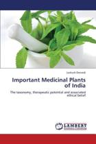 Important Medicinal Plants of India
