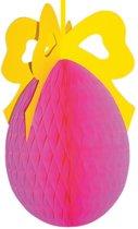 Roze paasei 3D decoratie 40 cm
