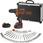 BLACK+DECKER BDCDD12BAFC Accuboormachine – 10.8V - incl. 100 accessoires en flightcase