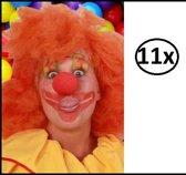 11x Schuimneus clown rood