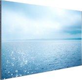 Zonlicht weerspiegelt op de zee Aluminium 90x60 cm - Foto print op Aluminium (metaal wanddecoratie)