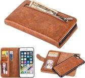 PU lederen Wallet / book case - iPhone 7 / 8 - bruin