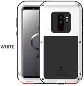 Metalen hoes voor Samsung Galaxy S9, Love Mei, metalen extreme protection case, zwart-wit