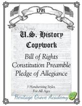 History Handwriting Copywork