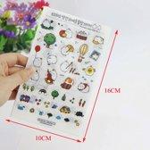Konijntjes Sticker Koreaans Kawaii Molang vers.3 6 velletjes