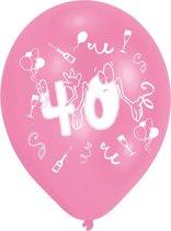 Amscan Ballonnen 40 Jaar 8 Stuks 25 Cm