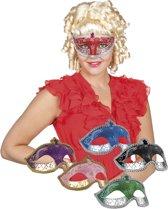24 stuks: Masker Venetie - corona in 6 kleuren - assorti