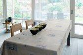 Stof Bedrukt Tafelzeil – Tafelkleed – Tafellaken – Afwasbaar – Duurzaam – 140 x 300 cm - Beige