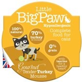 Little big paw gourmet malse kalkoen mousse kattenvoer 85 gr