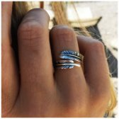 Boho ring Chani - 925 zilver - maat One-size