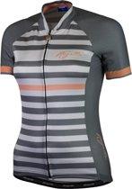 Rogelli Ispira Fietsshirt - Dames - Maat XL - Korte mouwen - Grijs/Koraal