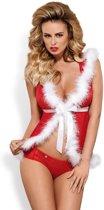 Obsessive - Santa Cutie Kimono - Maat S/M - Rood/Wit