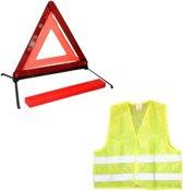 Gevarendriehoek - Veiligheidshesje - Set - Auto