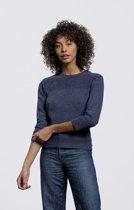 Loop.a life - Weekend Sweater driekwart Jean -    Duurzame Trui - Donkerblauw - Maat -L