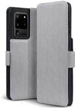 Samsung Galaxy S20 Ultra hoesje, MobyDefend slim-fit extra dunne bookcase, Grijs - Geschikt voor: Samsung Galaxy S20 Ultra