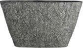 Mica Decorations pot ovaal milou maat in cm: 58 x 16.5 x 33 donkergrijs