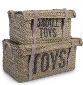 "CHILDHOME - RATTAN MANDEN ""TOYS+LITTLE TOYS"" SET VAN 2 IN 1"