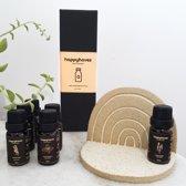 Essentiele olie set (100% puur natuurlijk en biologisch) voor diffuser |Inclusief etherische oliën lavendel, sinaasappel, pepermunt, rozemarijn, frankincense en bergamot voor aromatherapie