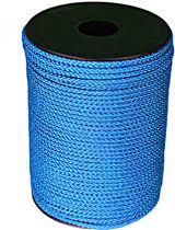 100 mtr - Touw - Blauw - 3mm - Gevlochten Koord