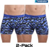 Embrator 2-pack mannen Boxershort overall print maat M