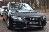 AutoStyle Motorkapsteenslaghoes Audi A4 B8 2008-2011 zwart