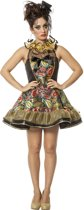 Harlequin Kostuum | Clown Circus Boltini | Vrouw | Maat 38 | Carnaval kostuum | Verkleedkleding