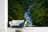 Fotobehang vinyl - Kloof in het Nationaal park Durmitor in Montenegro breedte 450 cm x hoogte 300 cm - Foto print op behang (in 7 formaten beschikbaar)