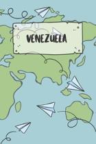 Venezuela: Liniertes Reisetagebuch Notizbuch oder Reise Notizheft liniert - Reisen Journal f�r M�nner und Frauen mit Linien