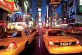 New York Taxi - Fotobehang - 232 x 315 cm - Multi
