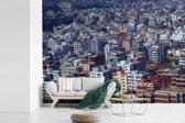 Fotobehang vinyl - Luchtfoto van Dhaka breedte 305 cm x hoogte 220 cm - Foto print op behang (in 7 formaten beschikbaar)