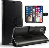 Chique Lederen hybride beschermhoes voor iPhone 7 | 8  zwart