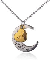 Dad, I loveyou to the moon and back ketting