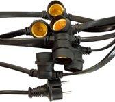 LED Lichtsnoer/prikkabel - 10 meter met 20 E27 fittingen - 2x1.0mm²