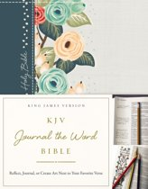 KJV, Journal the Word Bible, Cloth over Board, Green Floral, Red Letter Edition
