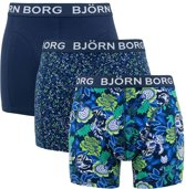 Bjorn Borg - Heren 3-Pack Core Flower Sammy Boxershorts Blauw Groen - L