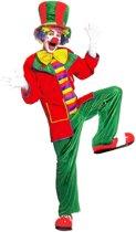 Clown & Nar Kostuum | Clown, Fluweel Top Hat Kostuum Man | Large | Carnaval kostuum | Verkleedkleding