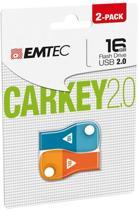 Emtec - Flashdrive - 16 GB Carkey D300 - 2 Pack