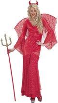 Kanten Halloween kostuum rode duivel voor vrouwen - Verkleedkleding - Medium