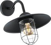 EGLO Vintage Melgoa - Buitenverlichting - Wandlamp - 1 Lichts - Zwart