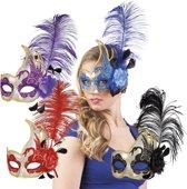 16 stuks: Masker Venetie - cigno in 4 kleuren - assorti