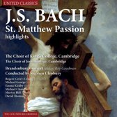 Bach; St. Matthew Passion Highlights