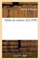 Tables de M�ture