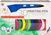 3Dandprint 3D Pen Starterspakket Blauw Inclusief 50 Meter Filament en Stencils