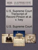 U.S. Supreme Court Transcript of Record Pinson et al. V. Ivey