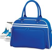Bagbase Retro bowlingtas, Kleur Bright Royal/ White