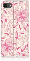 Book case iPhone 7 | 8 Pink Flowers