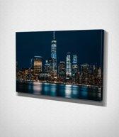 New York City At Night Canvas