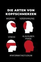 Die Arten Von Kopfschmerzen Migr�ne Verspannung Stress Klausurenphase: A5 Geschenkbuch LINIERT f�r Informatik Studenten - Programmierer - Geschenkidee