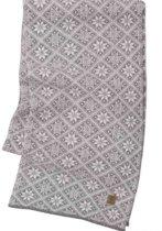 Ivanhoe gebreide sjaal van wol Elsie Grey Marl - One Size 185x27 Grijs