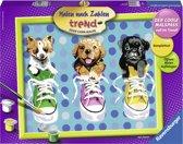 Ravensburger Schilderen op nummer Puppies in Chucks